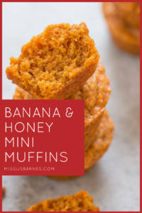 Toddler Snacks - Banana Honey Muffins from MissusBarnes.com