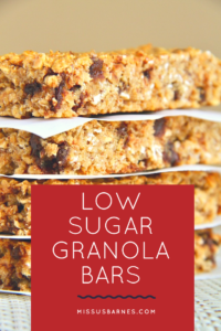 Healthy Snacks Granola Bars from MissusBarnes.com