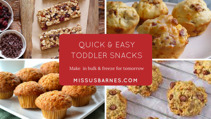 Easy Toddler Snacks from MissusBarnes.com