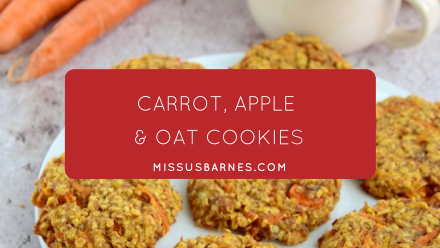 Toddler Snacks - carrot apple cookies from MissusBarnes.com